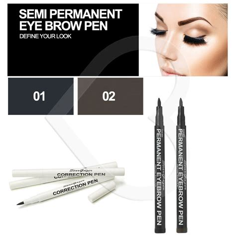 Monomola Eyeliner Brow Stargazer Semi Permanent Eye Brow Pen Pencil Make Up Black