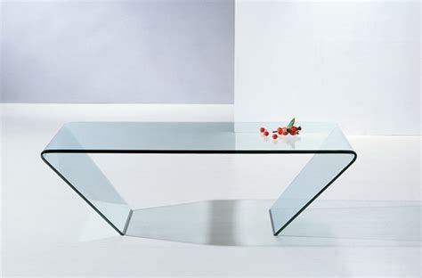 Bent Glass Coffee Table Modern Clear Bent Glass Rectangular Coffee Table Mattoni Modern Coffee Tables San