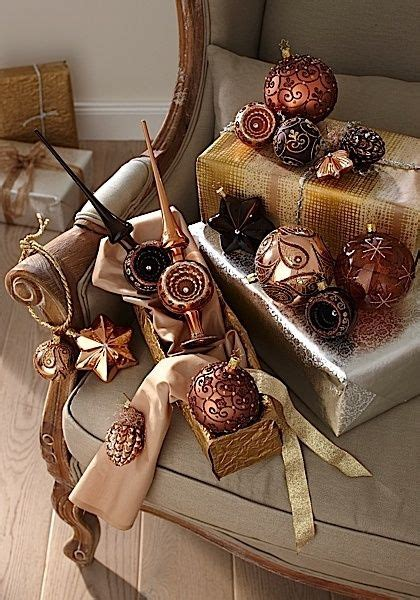 christmas trees decor bronze copper chocolate red silver images  pinterest