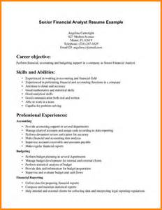 Analyst Resume Objective by Resume Financial Analyst Resume Sle Entry Level Financial Analyst Resume Financial