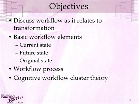 workflow theory clinical workflow implementation