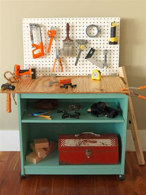 diy kids tool bench how to turn old furniture into a kids toy workbench how