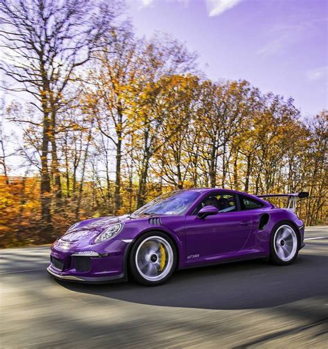 porsche purple porsche 991 gt3 rs painted in ultraviolet purple photo
