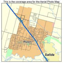 aerial photography map of ripon ca california