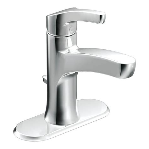 Chrome Bathroom Fixtures Moen Danika Chrome 1 Handle Single 4 In Centerset Watersense Bathroom Faucet Drain Included
