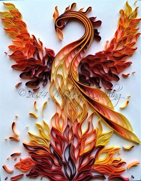 Novel Flames Original quot rising quot original artwork by artist lash bettenourt owner of mainely quilling