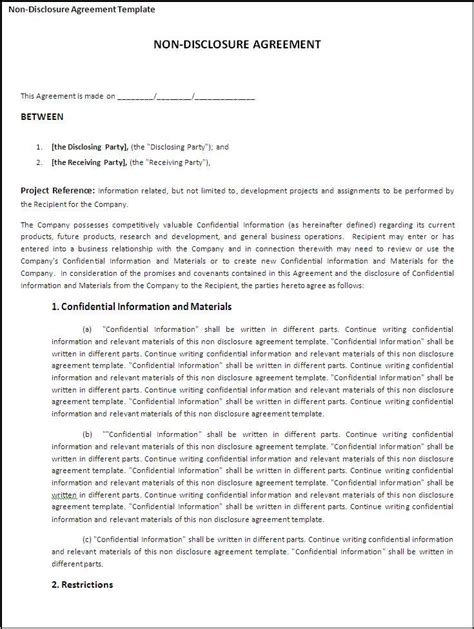 non disclosure agreement template australia best 25 non disclosure agreement ideas on