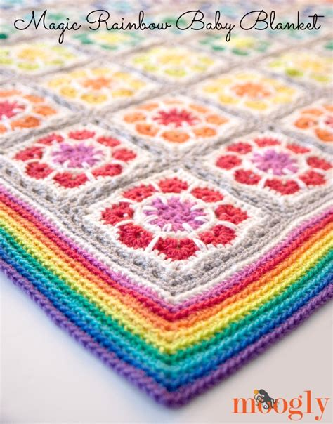 Rainbow Crochet Baby Blanket by Magic Rainbow Baby Blanket Free Crochet Pattern