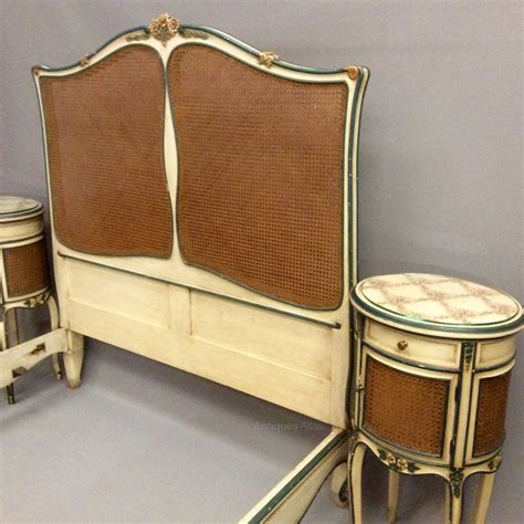french cane bed french antique cane bed and bedside cabinets antiques atlas