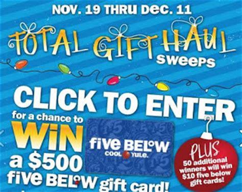 5 Below Gift Card - five below 10 gift card giveaway 50 winners grand prize 500 winner heavenly steals
