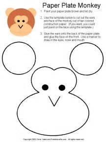 paper plate monkey project craft ideas pinterest