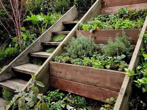 uneven backyard planting boxes on an uneven ground garden and planting