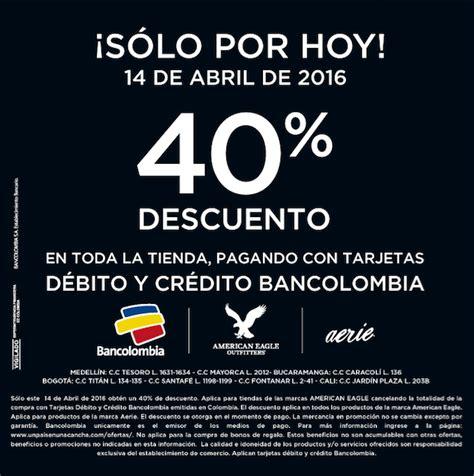 descuento pagando con tu tarjetas mastercad cazaofertas colombia promoci 243 n american eagle 40 de descuento pagando con tu