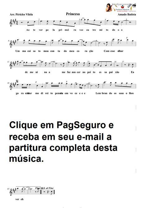 Partituras Musicais: Princesa - Amado Batista - Sax Alto