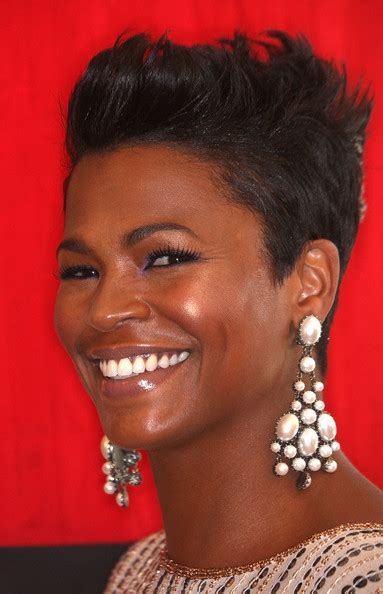 how to style hair like nia long more pics of nia long fauxhawk 2 of 4 short hairstyles