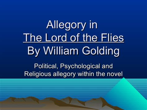 lord of the flies political themes allegory in the lord of the flies
