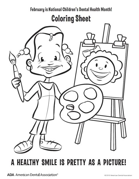 dental coloring pages dental health month coloring pages