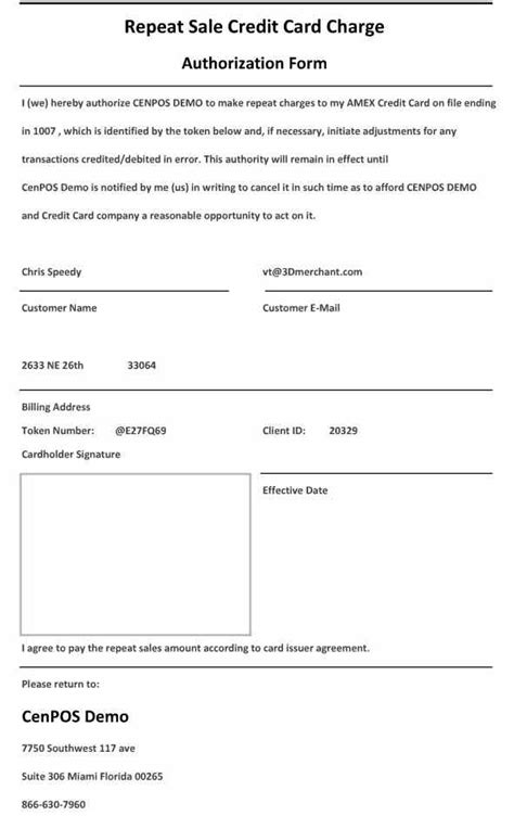 cc authorization form recurring credit card form1 payment