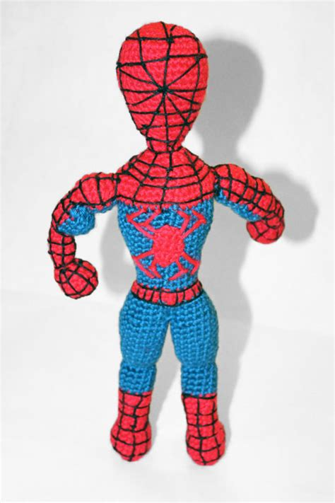 pattern for crochet spiderman doll spiderman superhero amigurumi pattern amigurumipatterns net