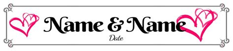 wedding phlet template just married number plate template 2