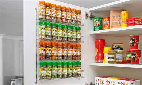 Spice Rack Deals Chrome Spice Rack Groupon Goods