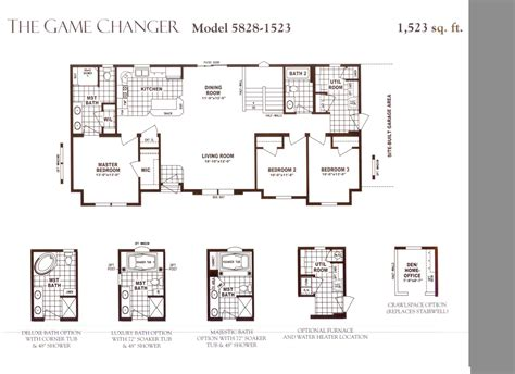 schult homes floor plans schult game changer 5828 1523 excelsior homes west inc