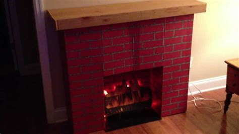 Diy Cardboard Faux Logs To My Vintage Retro Faux Brick Fireplace With