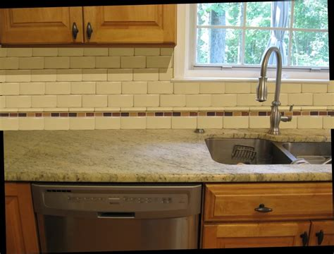 Tile Borders For Kitchen Backsplash top 18 subway tile backsplash design ideas with various types