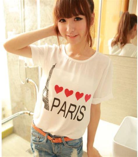 D4168 Blouse Putih Size L Import Baju Atasan Wanita Murah White atasan wanita import gambar model terbaru jual