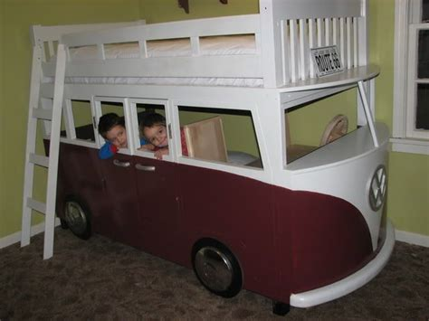 vw bus bed vw bus bunk beds toddler rooms pinterest