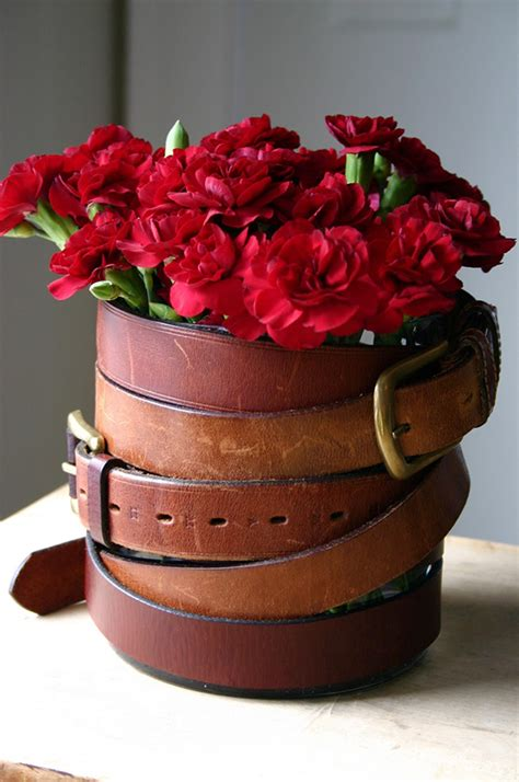 diy flower belt diy flower vases that are chic fancy