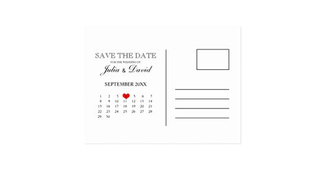 The Date Calendar Card Free Template by Calendar Save The Date Postcard Template Zazzle
