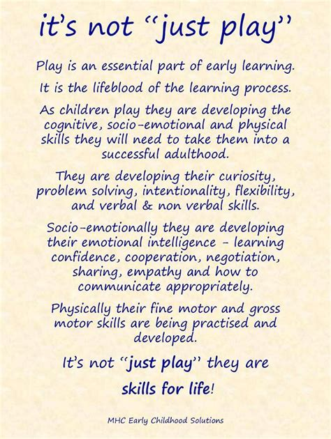 the role of parents supporting your learner going to quot it s not just play quot from mhc early childhood solutions