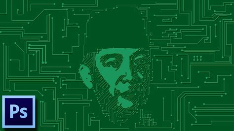 printed circuit board pcb portrait tutorial photoshop