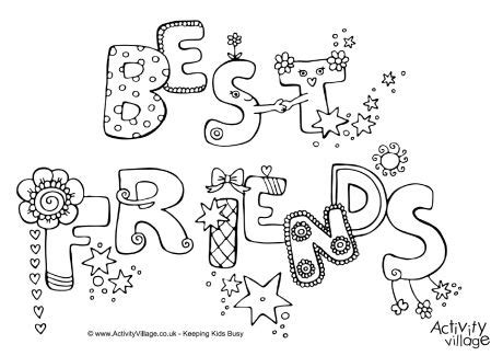 coloring pages for your best friend best friends colouring page