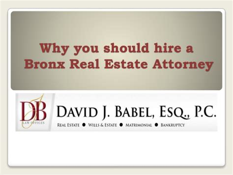should i be a realtor why you should hire a bronx real estate attorney
