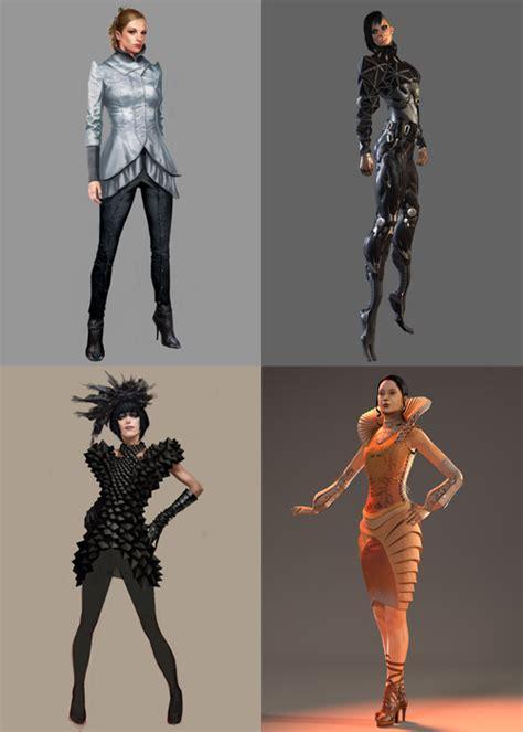 Gamis Ellisa design fiction fashion for computer character design