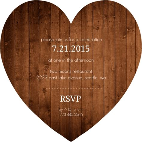 Wedding Announcement Rustic by Simple Rustic Wood Wedding Announcement Wedding