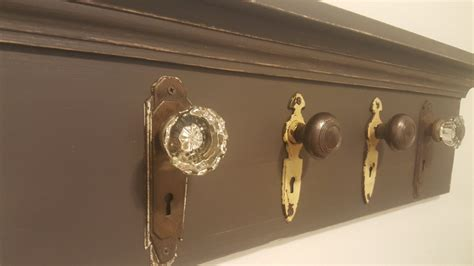 Door Knob Coat Rack by Antique Door Knob Rack Farmhouse Coat Rack Shabby Chic Coat