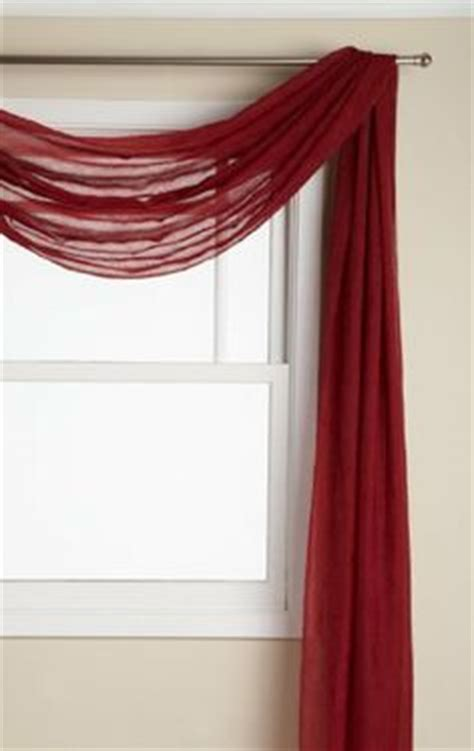 draping fabric over curtain rod window scarf design on pinterest window scarf scarf