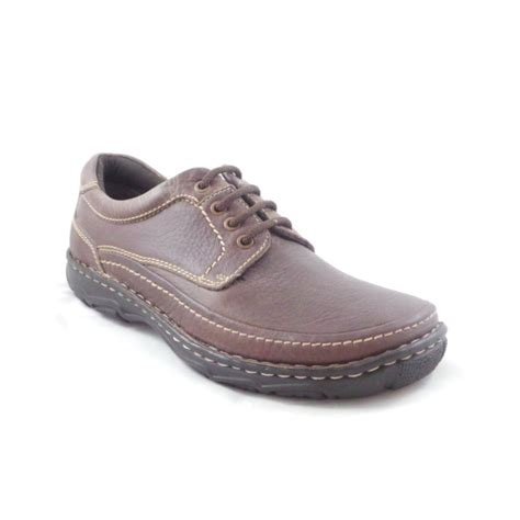 mens casual shoes mens brown leather lace up casual shoe from