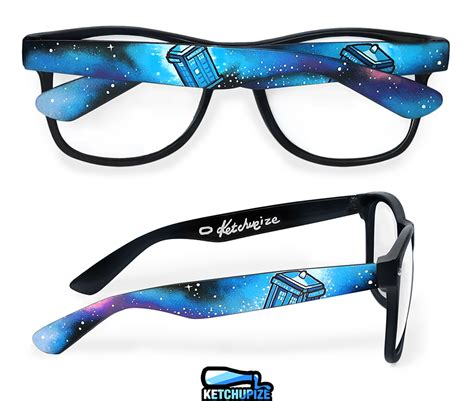 Kacamata Sunglasses Dr Chatty tardis in space painted glasses by ketchupize on deviantart