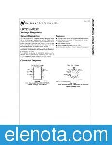 Lm723 National Semiconductor lm723 datasheet pdf 470 kb national semiconductor pobierz z elenota pl