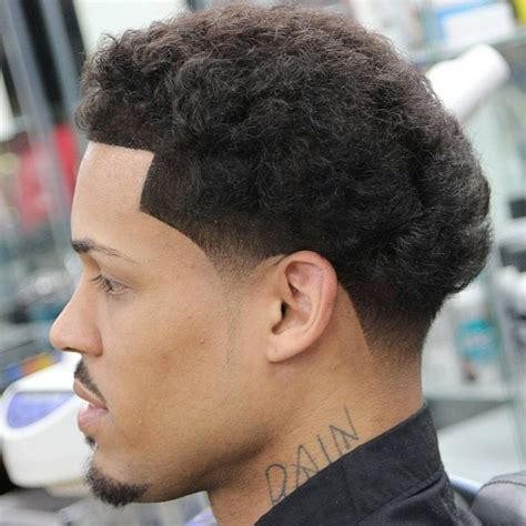 tapered sides with curls black men image gallery afro taper