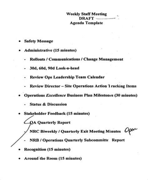 operations meeting template 41 meeting agenda templates free premium templates