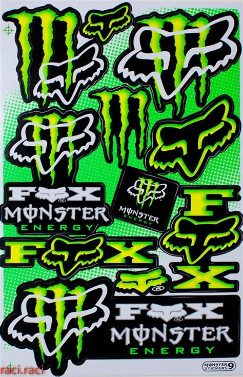 Monster Energy Yellow Sticker by Green Monster Energy Claws Sticker Decal Supercross By