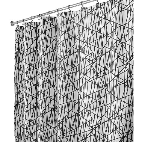72x84 fabric shower curtain interdesign abstract long shower curtain black white 72