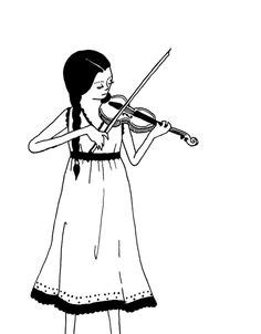 violin player coloring page violin player coloring pages