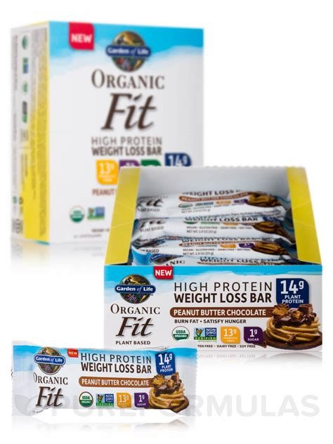 Garden Of Organic Fit Bars Organic Fit High Protein Weight Loss Bar Peanut Butter