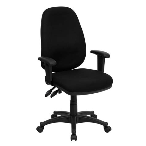 adjustable height desk chair high back black fabric executive ergonomic swivel office